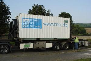 Hilfscontainer für den Südsudan und Burundi