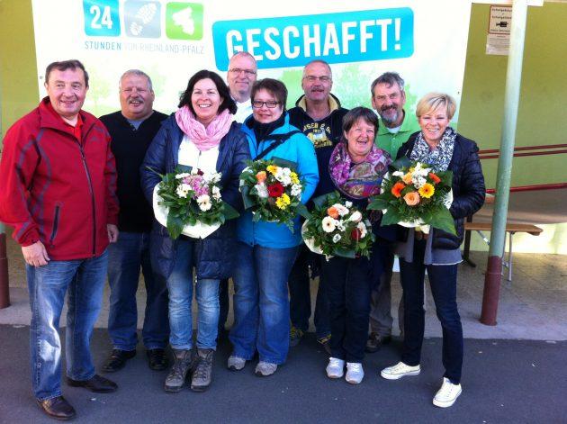 25.000 € Spendenerlös und Blumen für das Orga-Team