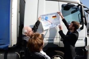 Hilfskonvoi nach Idomeni ist gestartet