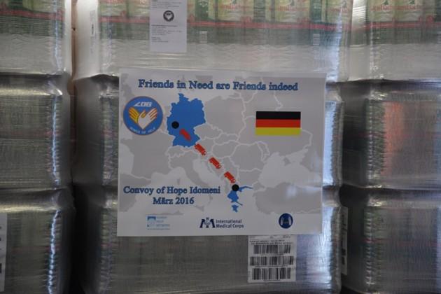 Hilfe für die Menschen in Idomeni